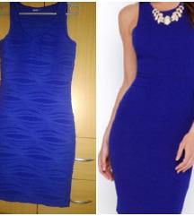 Kraljevsko plava haljina kao nova