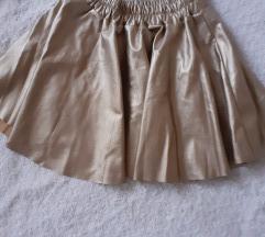 Kožna zlatna suknja