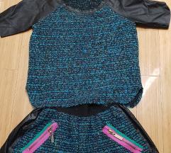 Suknja i majica jesenji komplet