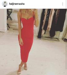 POSLEDNJE SNIZENJE crvena haljina  uz  telo