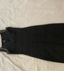 Crna uska haljina markirana