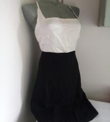 Francuska crno bela haljina M
