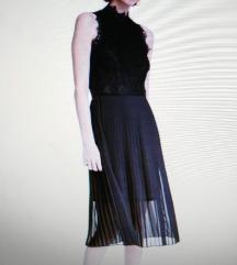 Plisirana crna haljina H&M 38.NOVO