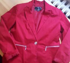 Crveni blejzer sako
