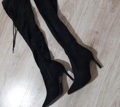 Snizenje velur cizme preko kolena
