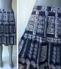 suknja teget bela plisirana do kolena br L