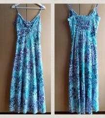 Duga plava tirkizna haljina