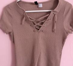Pink i krem majica