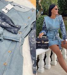 Zara jeans haljina NOVA sa etiketom