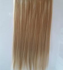 Med plava kosa na klipse