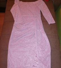 Roze sjajna haljina
