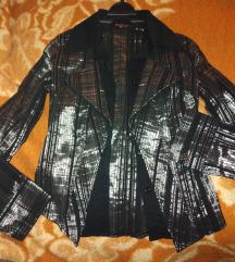 Košulja sako srebrna crna S/M
