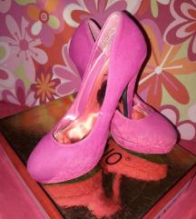 Ciklama cipele na platformu