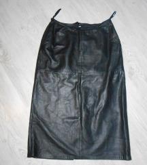 Prelepa crna kožna suknja M/L