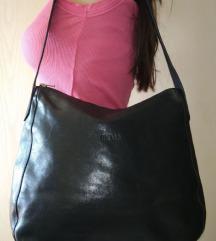 Mona teget kožna torba