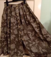 Letnja lanena suknja