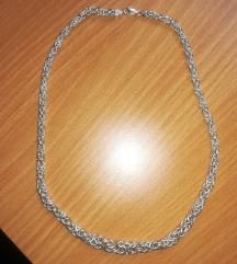 Srebrna ogrlica kraljevski rad