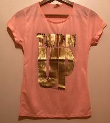Turn up majica roze