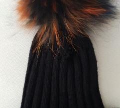 Crna kapa prirodno krzno
