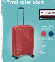 NOV Umbro tvrdi kofer 66cm boje crvena i teget