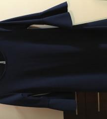 Teget strukirana haljina