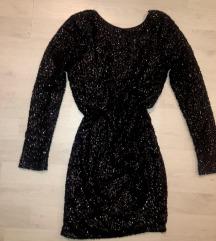 SL - crna haljina sa šljokicama