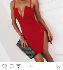 Crvena haljina sok cena