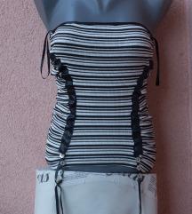LOT SAMO 300 Y2K majica bretele ruched top 38/40