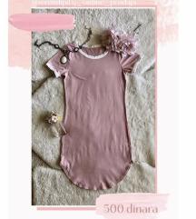 Uska prljavo roze haljina
