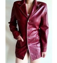 Bordo kožna jakna /mantil