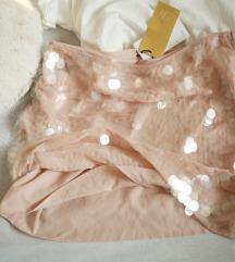 NEzno roze HM suknja sa velikom krljusti, vel. 36