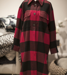 Oversized karirana HM kosulja/ jakna, vel. S