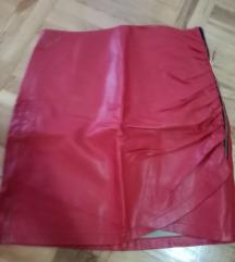 Zara kožna crvena suknjica odlična, 36