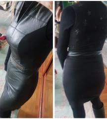 PHILIPP PLEIN - kozna haljina snizz