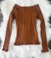 Uska knit bluza sa karnerima NOVA