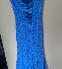 Duga plava haljina 36