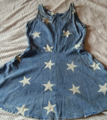 H&M Teksas haljinica sa zvezdama