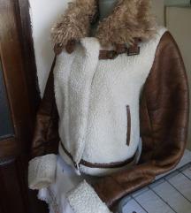 Braon bela jakna M/L