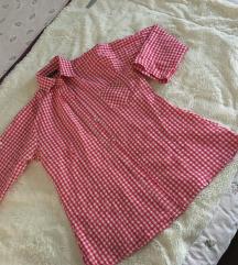 Crveno bela ženska košulja M/L