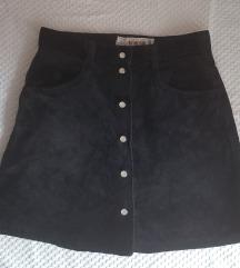 Crna mini suknja za devojcice