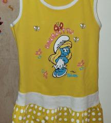 STRUMFOVI - Strumfeta žuta haljina 7-8