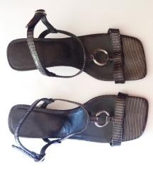 Kožne tamno plave sandale
