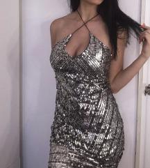 Srebrna haljina svečana