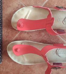 Crvene anatomske sandale