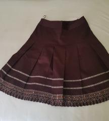 Braon suknja sa falatama