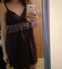 Letnja braon haljinica M/L