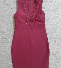 Herve Leger bordo predivna haljina kao Novo AKCIJA