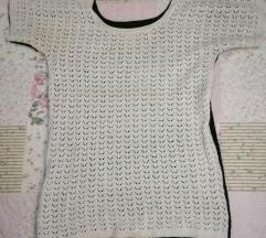 Crno bela majica pletena M