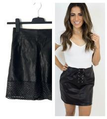 H&M crna suknja od eko koze