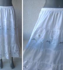 bela suknja za leto broj 44 ili 46